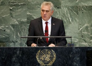 Serbian President Nikolic addresses the 67th UN General Assembly at the U.N. headquarters in New York